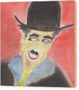 Chaplin Wood Print by Roger Cummiskey