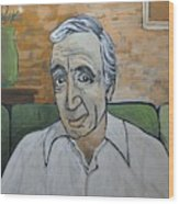 Charles Aznavour Wood Print by Reb Frost