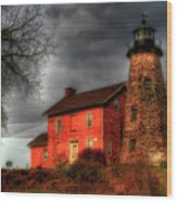 Charlotte-genesee Lighthouse  Wood Print by Joel Witmeyer
