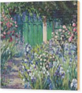 Charmed Entry - Monet Wood Print by L Diane Johnson