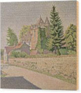 Chateau De Comblat Wood Print by Paul Signac