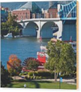 Chattanooga Landmarks Wood Print by Tom and Pat Cory