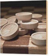 Checkers IIi Wood Print by Tom Mc Nemar