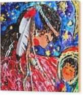 Cherokee Trail Of Tears Mother And Child Wood Print by Laura  Grisham