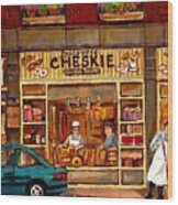 Cheskies Hamishe Bakery Wood Print by Carole Spandau