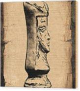 Chess Queen Wood Print by Tom Mc Nemar