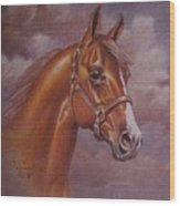 Chestnut Quarter Horse Wood Print by Dorothy Coatsworth