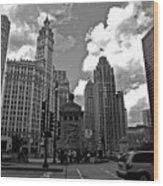Chicago Wood Print by Miranda  Miranda
