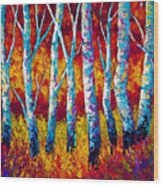 Chill In The Air Wood Print by Marion Rose