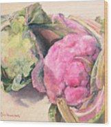 Choux Wood Print by Muriel Dolemieux