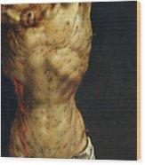 Christ On The Cross Wood Print by Matthias Grunewald