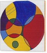 Circles Abstract 1 Wood Print by Patty Vicknair