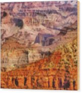 City - Arizona - Grand Canyon - Kabob Trail Wood Print by Mike Savad