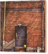 City - Door - The Back Door  Wood Print by Mike Savad