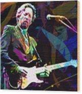 Clapton Live Wood Print by David Lloyd Glover