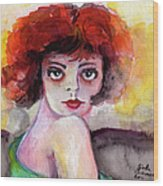 Clara Bow Vintage Movie Stars The It Girl Flappers Wood Print by Ginette Callaway