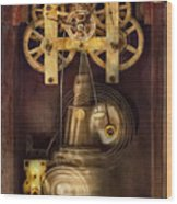 Clockmaker - The Mechanism  Wood Print by Mike Savad