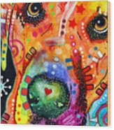 Close Up Lab Warpaint Wood Print by Dean Russo