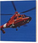 Coast Guard Helicopter Wood Print by Stocktrek Images