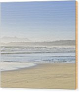 Coast Of Pacific Ocean On Vancouver Island Wood Print by Elena Elisseeva