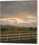 Colorado Rocky Mountain Country Sunset Wood Print by James BO  Insogna