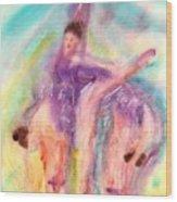 Colorful Dance Wood Print by John YATO