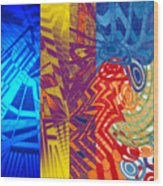 Colorful Light Wood Print by B and C Art Shop
