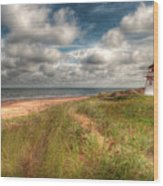 Covehead Lighthouse Wood Print by Elisabeth Van Eyken