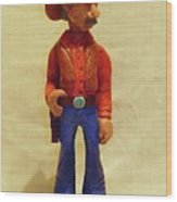 Cowboy Rancher Wood Print by Russell Ellingsworth