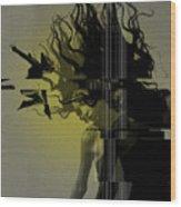 Crash Wood Print by Naxart Studio