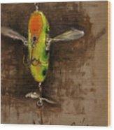 Creeper Muskie Lure Wood Print by Larry Seiler