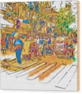 Crosswalk In The Philippines Wood Print by Rolf Bertram