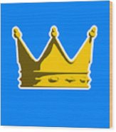 Crown Graphic Design Wood Print by Pixel Chimp