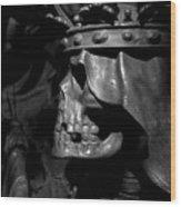 Crowned Death II Wood Print by Marc Huebner
