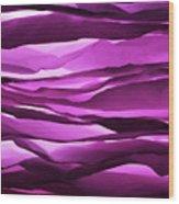 Crumpled Sheets Of Purple Paper. Wood Print by Ballyscanlon