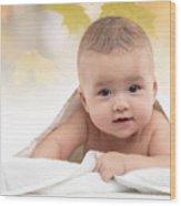 Cute Four Month Old Baby Boy Wood Print by Oleksiy Maksymenko