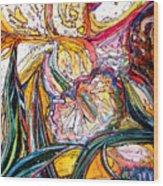 Daffodil Delirium Wood Print by Mindy Newman