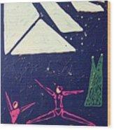 Dancing Under The Starry Skies Wood Print by J R Seymour