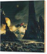 Dark Planet Wood Print by Bob Orsillo