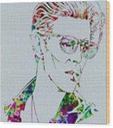 David Bowie Wood Print by Naxart Studio
