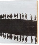 Dawn March Wood Print by Private Collection