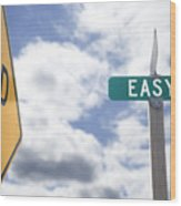 Dead End On Easy Street Wood Print by Ed Book