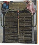 Declaration Of The Rights Of Man And Citizen Wood Print by French School
