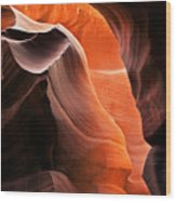 Deep Red Glow Wood Print by Mike  Dawson