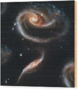 Deep Space Galaxy Wood Print by The  Vault - Jennifer Rondinelli Reilly