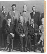 Defendants And Naacp Counsel Wood Print by Everett