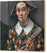 Derain: Harlequin, 1919 Wood Print by Granger