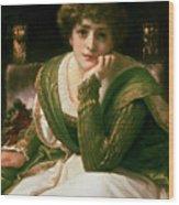 Desdemona Wood Print by Frederic Leighton
