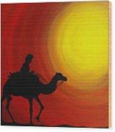 Desert King Wood Print by Ramneek Narang