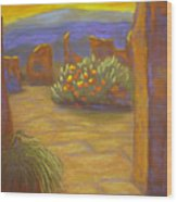 Desert Rose Wood Print by Marcia  Hero